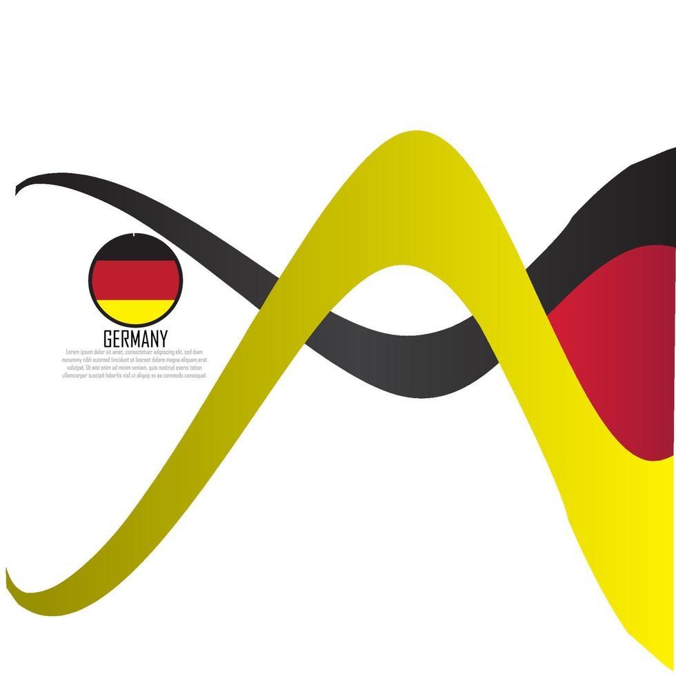 vlag van Duitsland vector illustratie