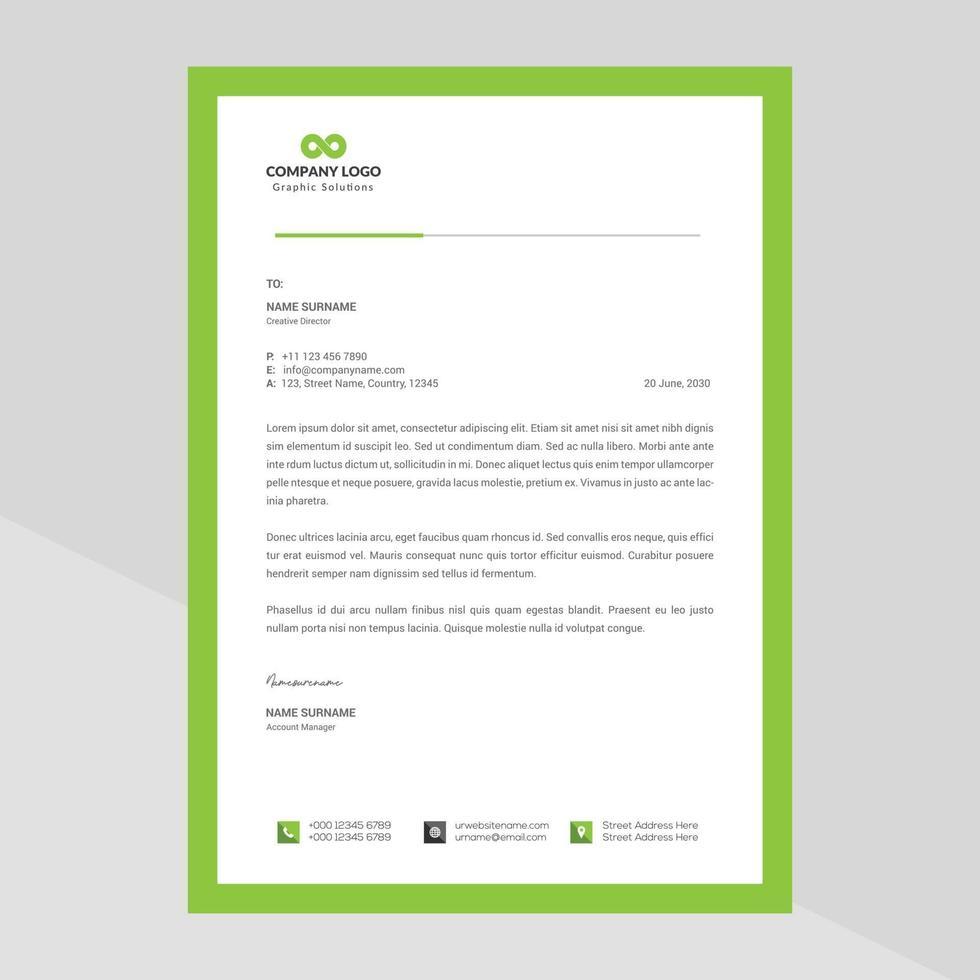 modern bedrijf briefpapier gratis vector
