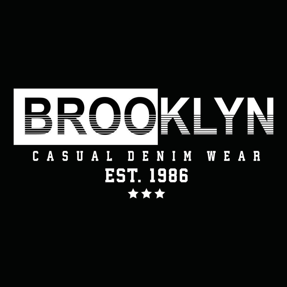 het originele ontwerp van de typografie van de stedelijke kleding van Brooklyn vector