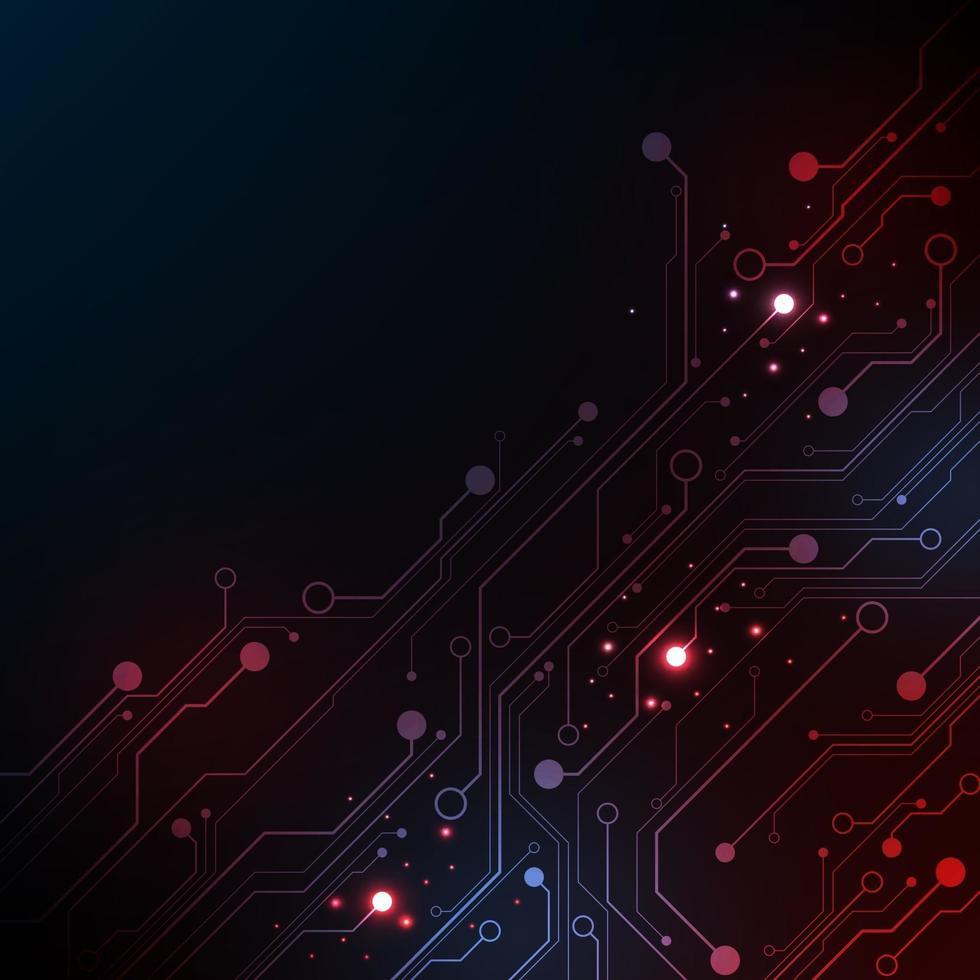 vectortechnologie in het ontwerp van elektronische schakelingen. vector