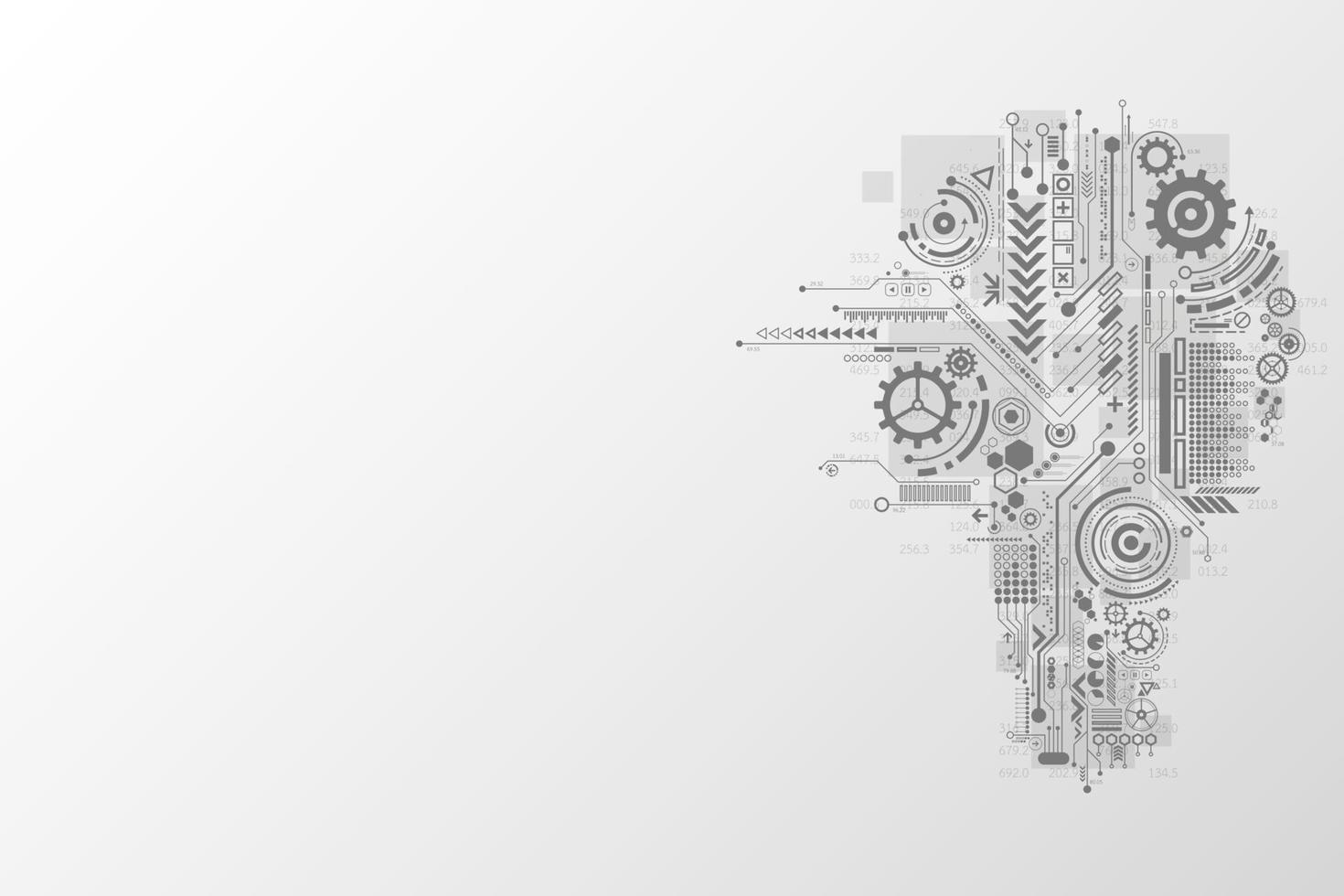 nieuwe technologie die is ontstaan uit creativiteit. vector
