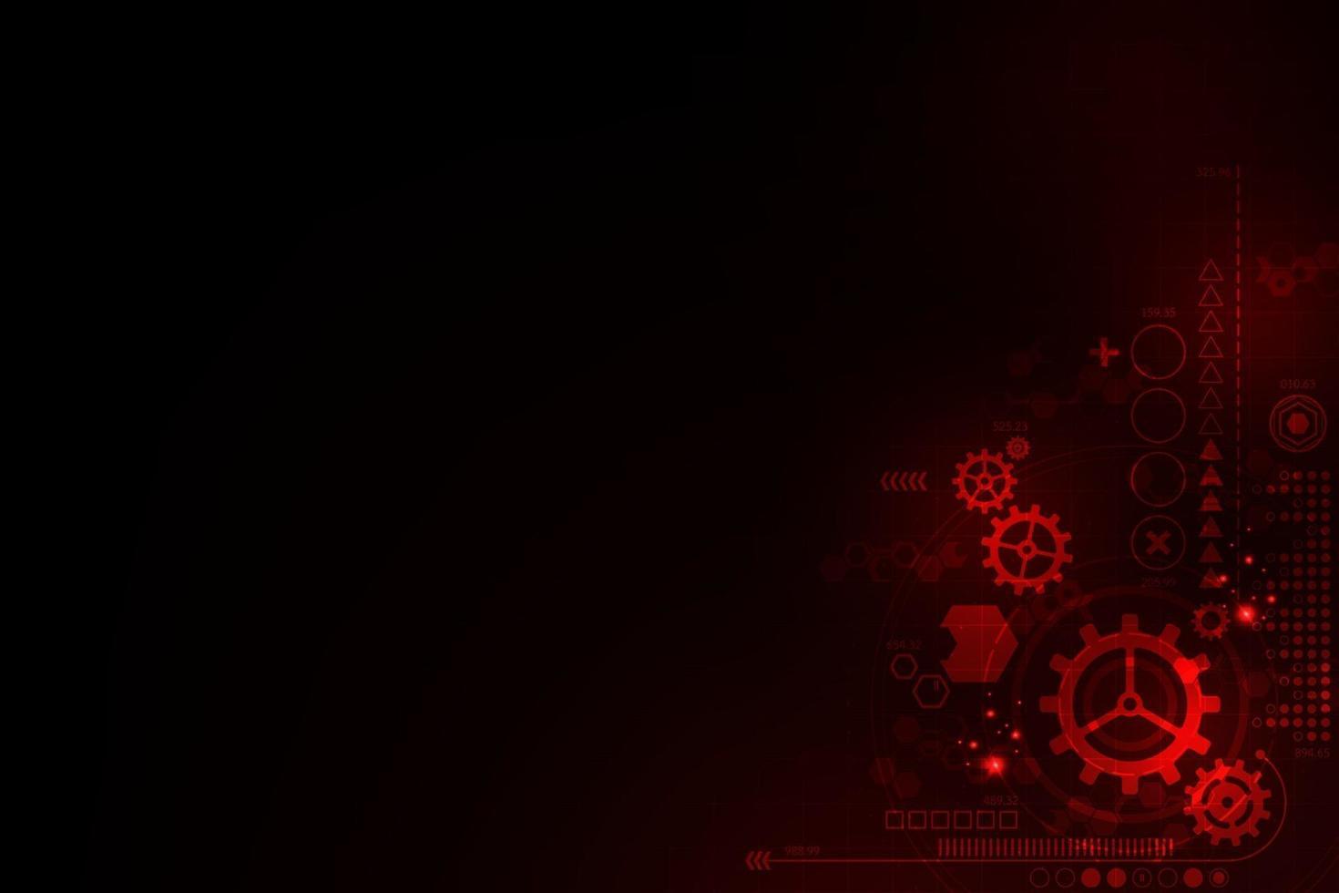 vector rode technische achtergrond