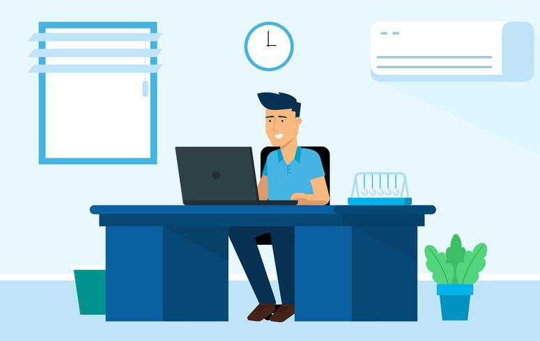 Vector Office karakter illustratie