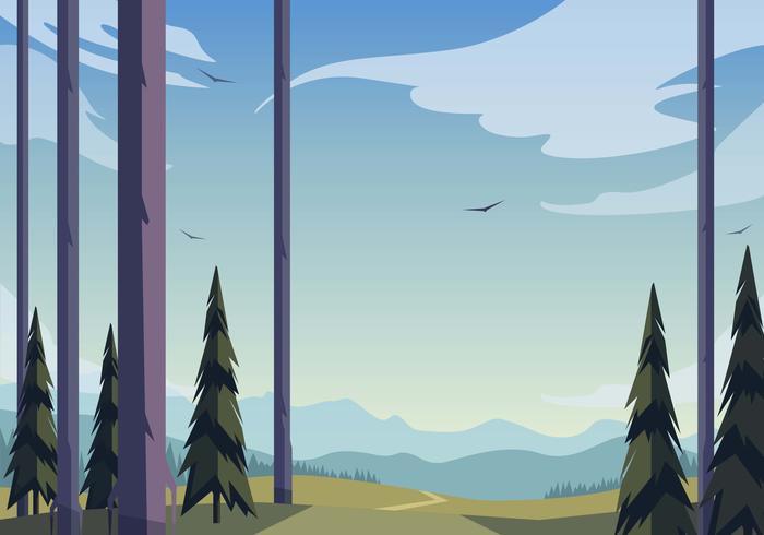 Vector natuur landschap illustratie