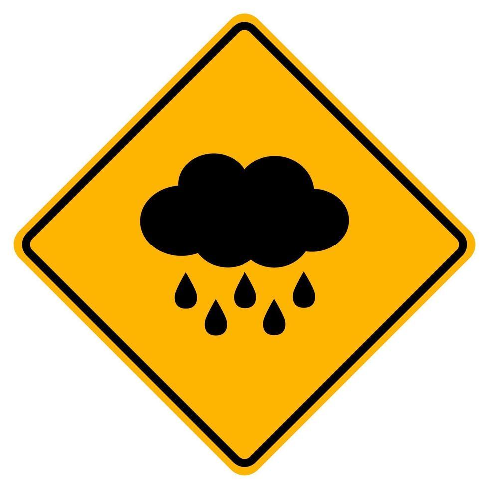 waarschuwing wolk teken op een witte achtergrond. vector
