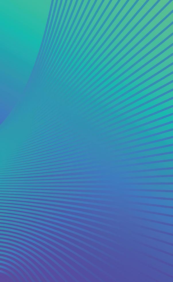 groen-blauwe abstracte achtergrond met golvende lijnen - vector