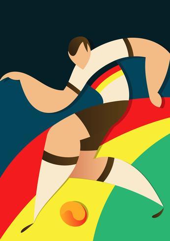 Duitsland WK voetballers illustratie vector