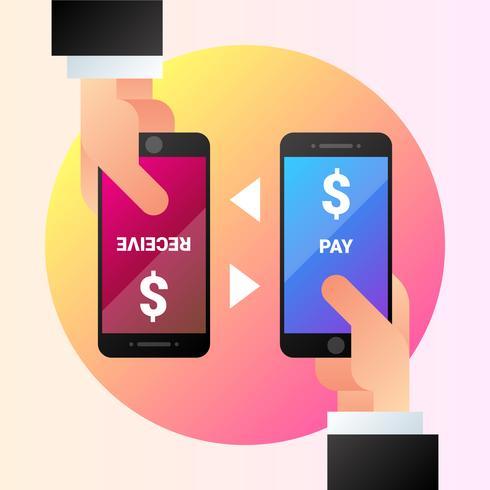 Mobiele betalingen met Smartphone Illustratie vector