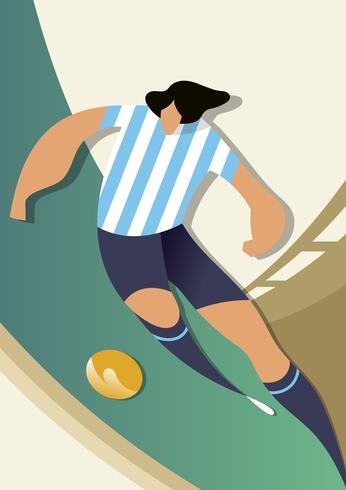 Argentinië World Cup Soccer Players Vector Illustration