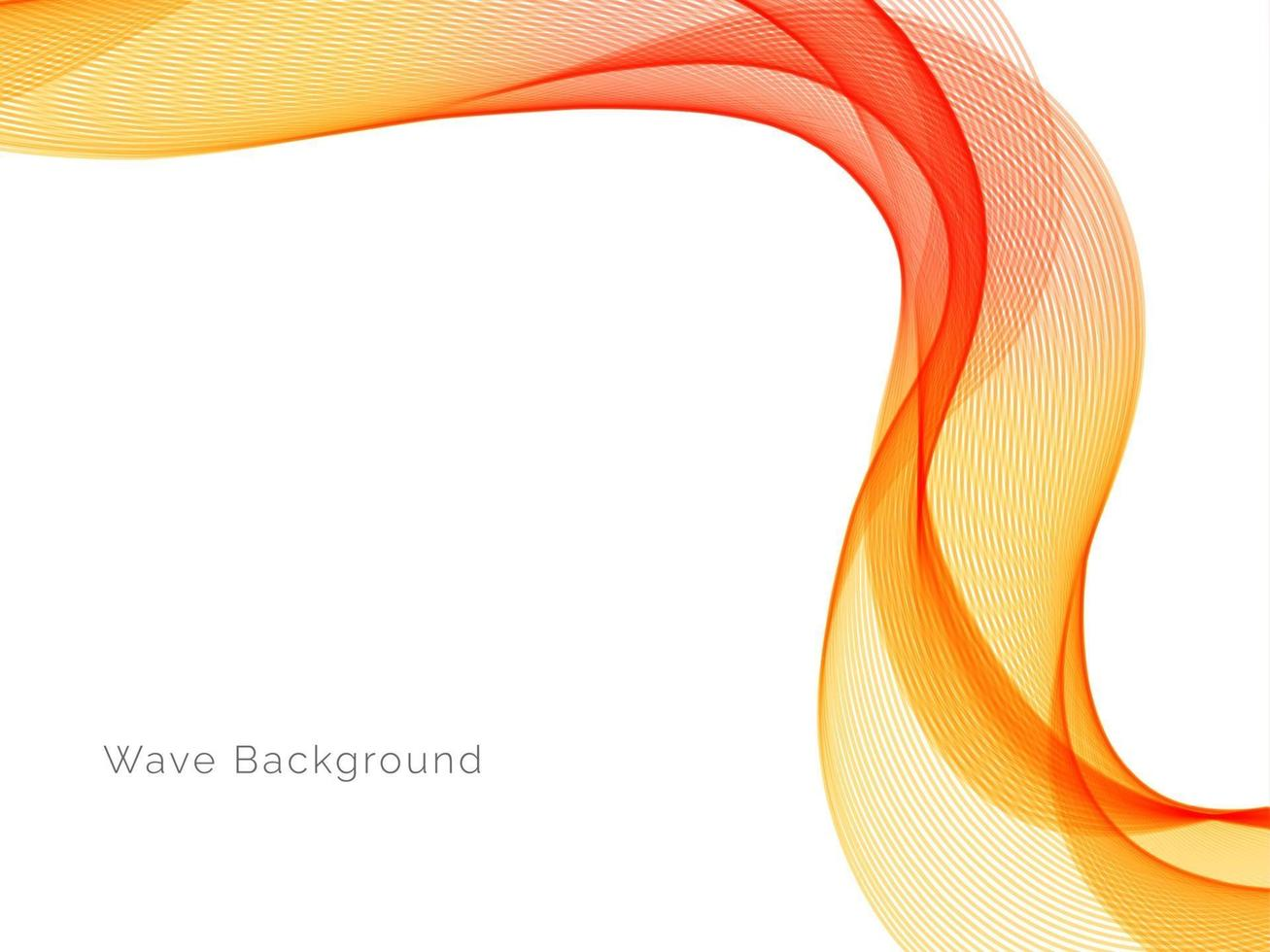 decoratief ontwerp modern patroon met stijlvolle gladde gele golf achtergrond vector