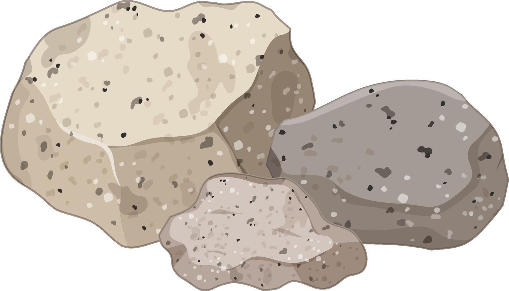 groep granieten stenen op witte achtergrond vector