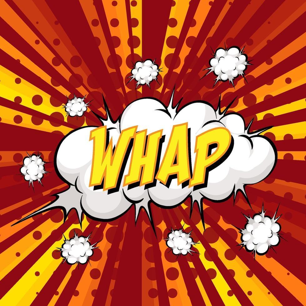 whap formulering komische tekstballon op burst vector
