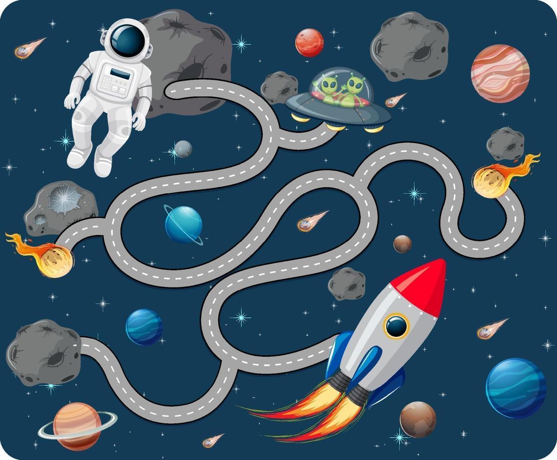 schattige cartoon doolhof game sjabloon vector