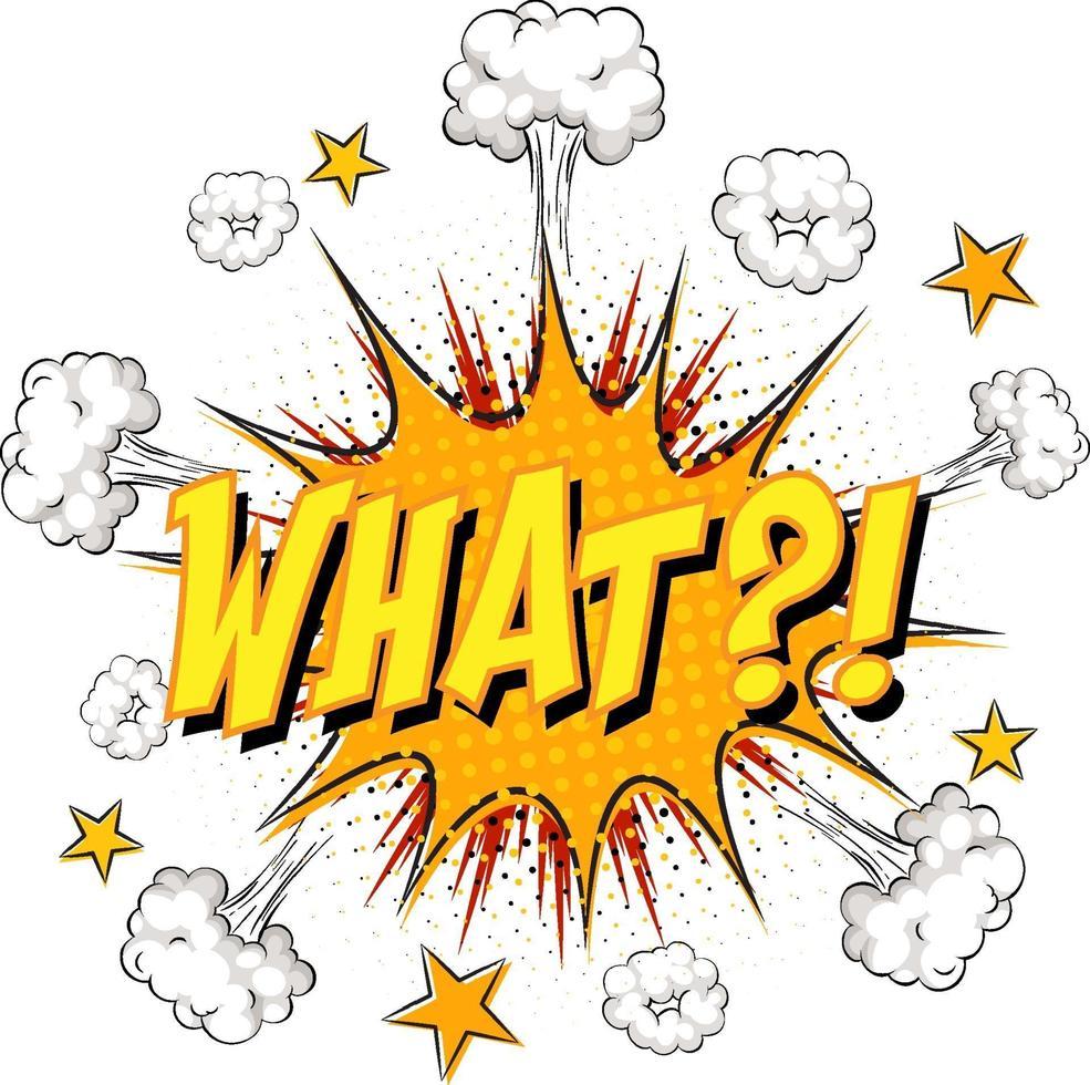 welke tekst op komische wolk explosie geïsoleerd op een witte achtergrond vector