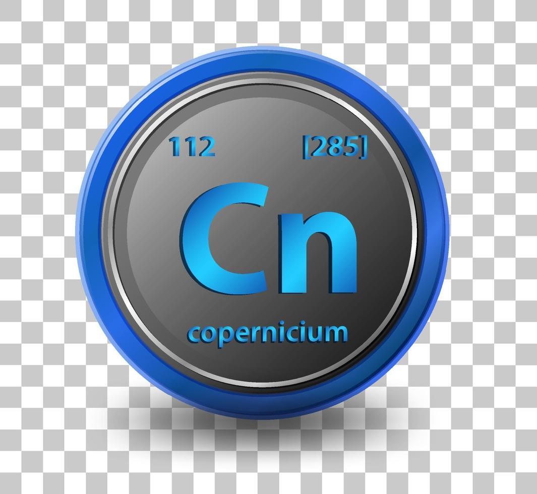 copernicium scheikundig element vector