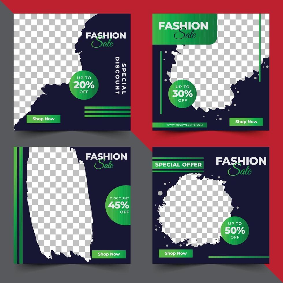 mode verkoop sociale media post sjabloon vector