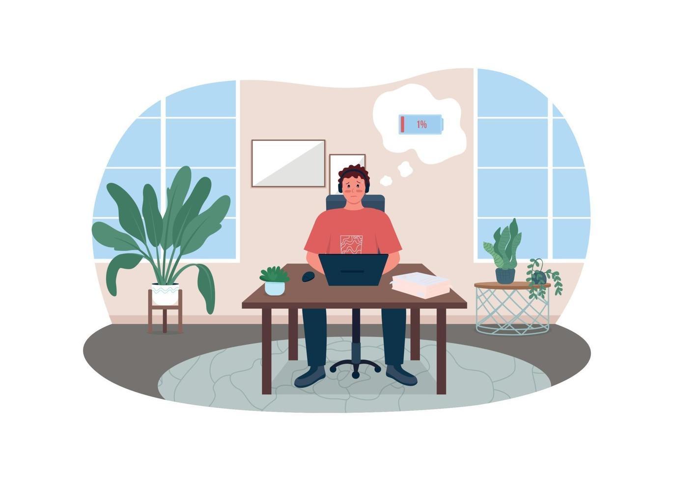 moe werknemer 2d vector webbanner, poster