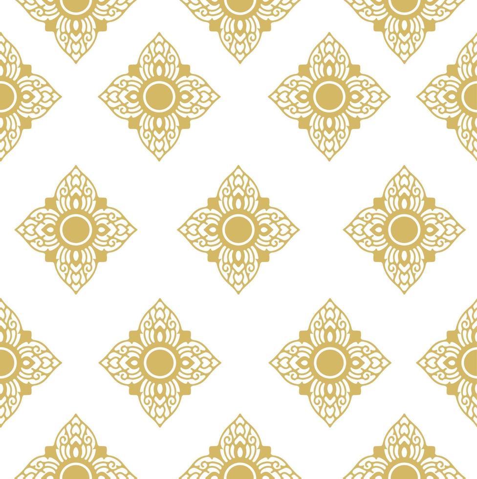 Thais traditioneel naadloos patroon van de lijnstof vector