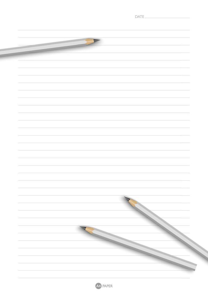 a4-formaat papier met pannenkoeken bovenop, vectorillustratie vector