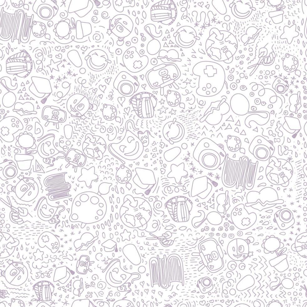 een naadloos patroon met kleine markeringen voor creativiteit tegen een donkere achtergrond vector