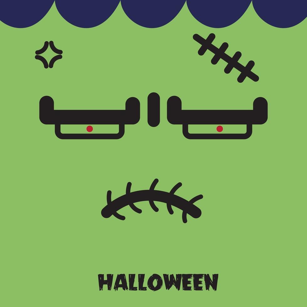 Halloween-ontwerp van het monster van de nachtpartij. vector