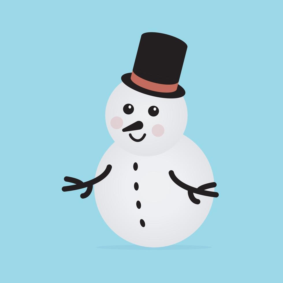 sneeuwpop pictogram. vector concept illustratie voor ontwerp.