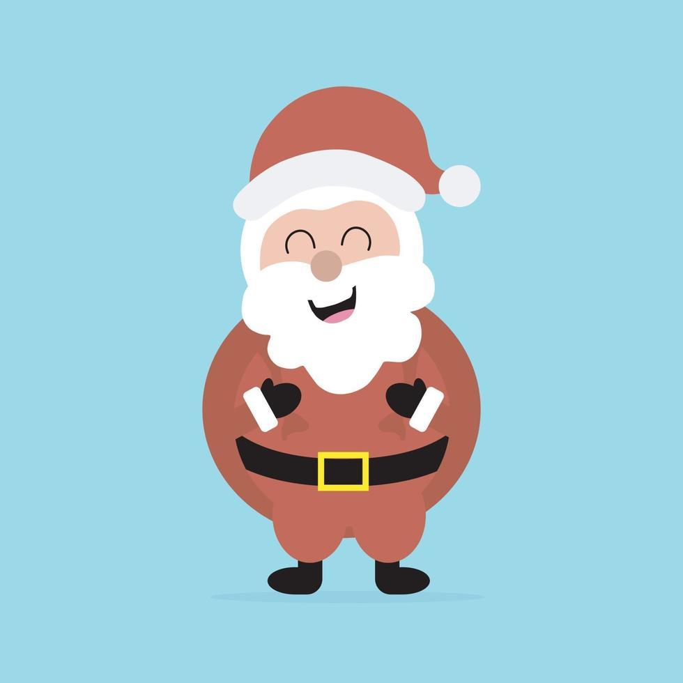 schattige kerstman mascotte of karakter pictogram. vector concept illustratie voor ontwerp.