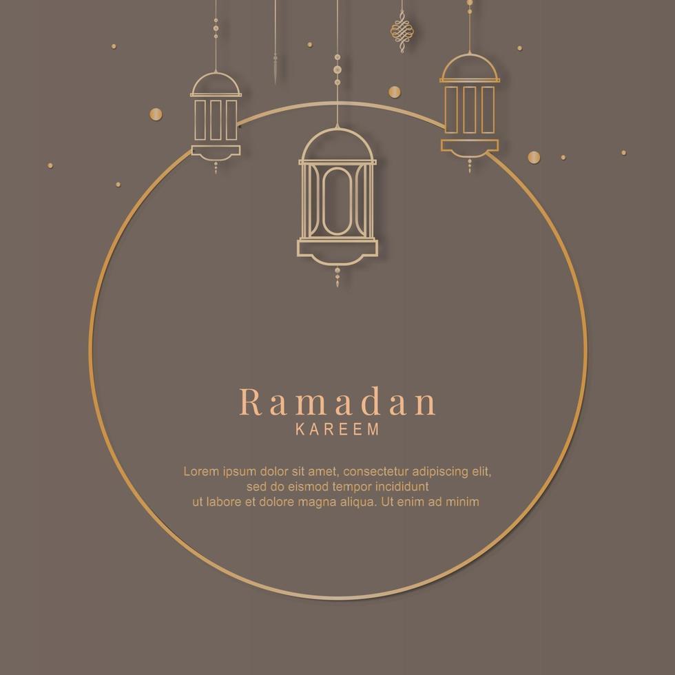 ramadan frame kaart vector