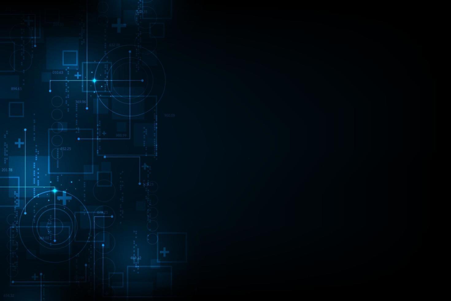 vector abstracte achtergrond van het digitale technologiewerk.