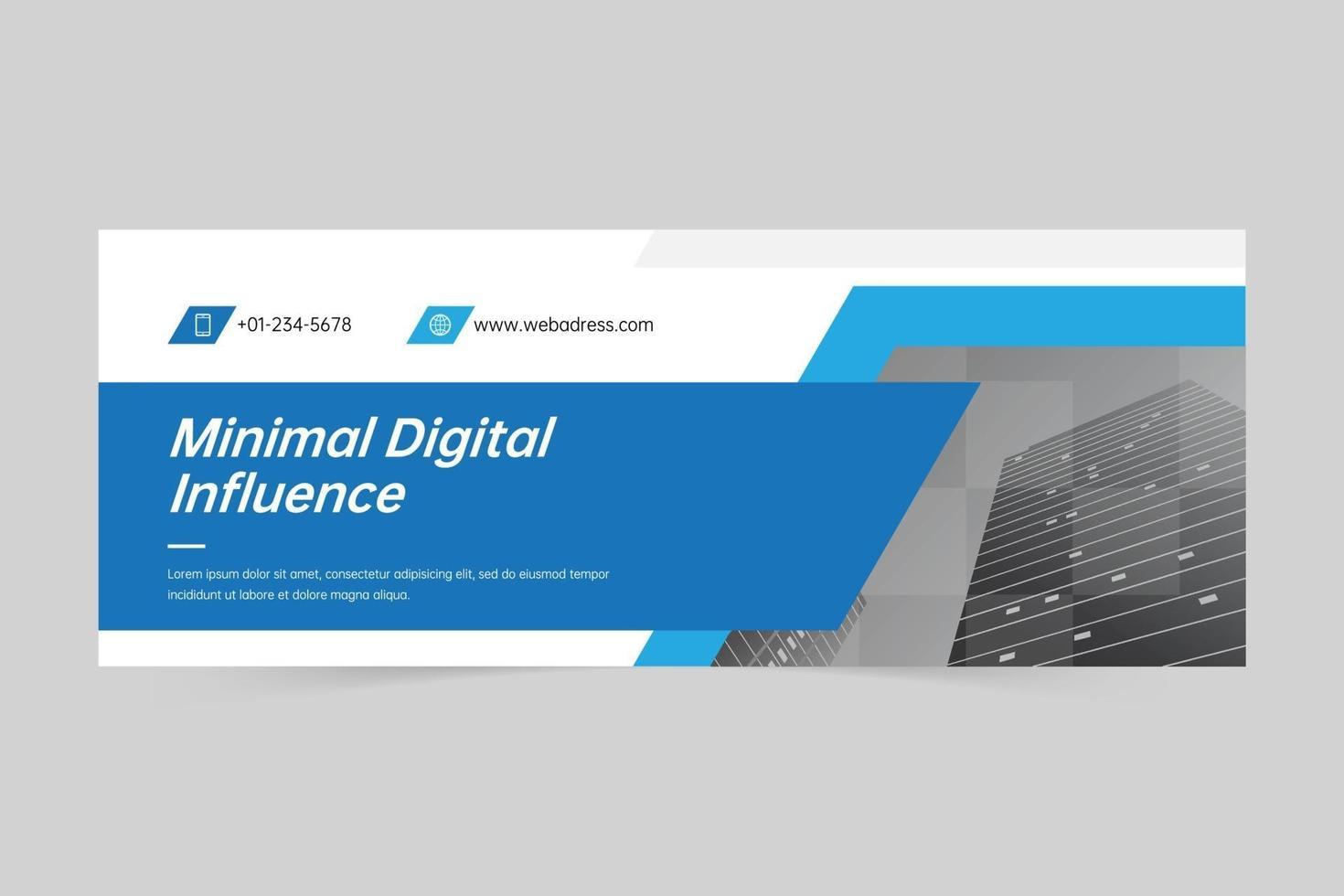 zakelijke omslag of webbannermalplaatje vector