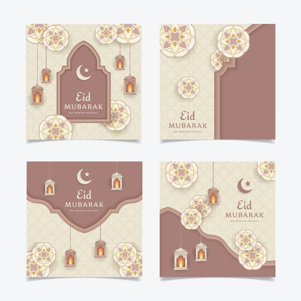 eid mubarak postset voor sociale media vector
