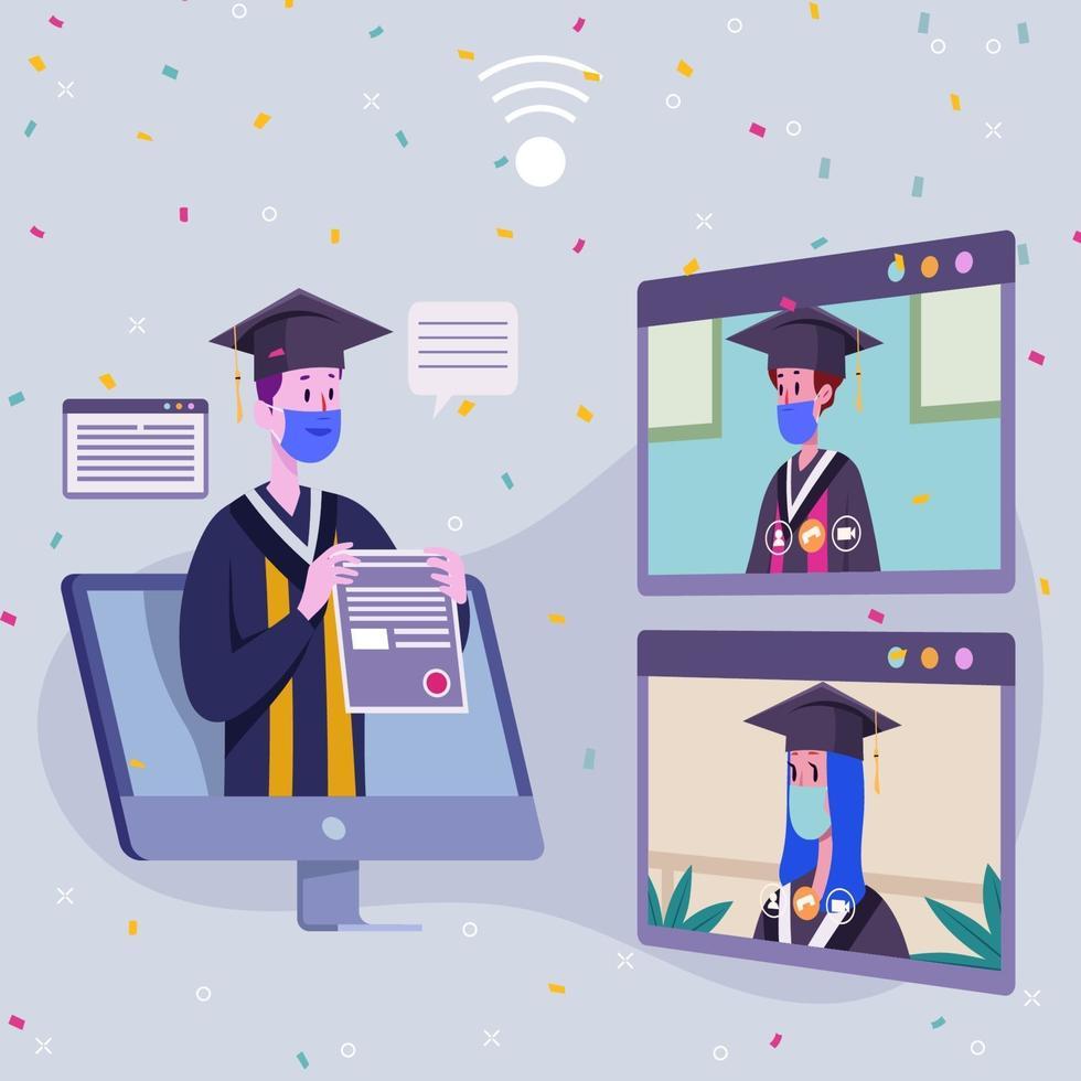 diploma-uitreiking online vector
