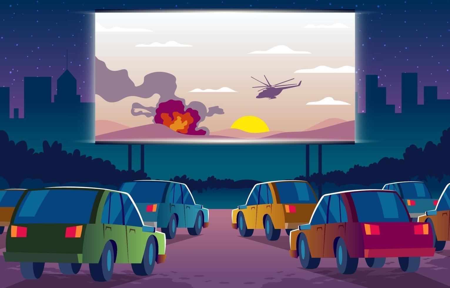 rijden in de bioscoop vector