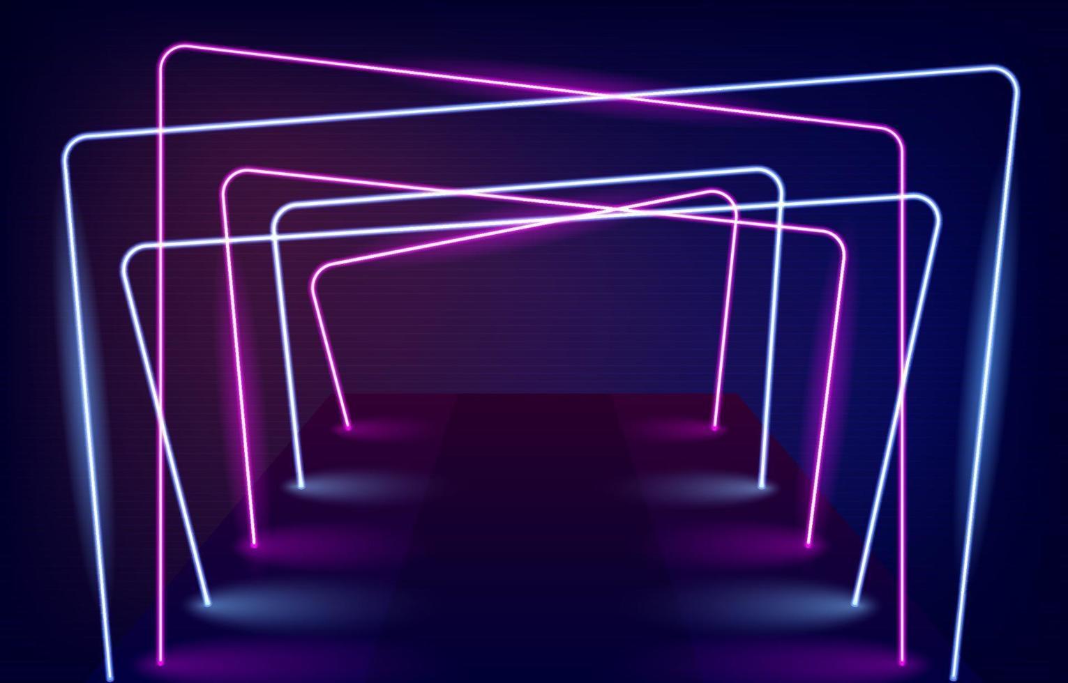 neonlicht gangen achtergrond vector