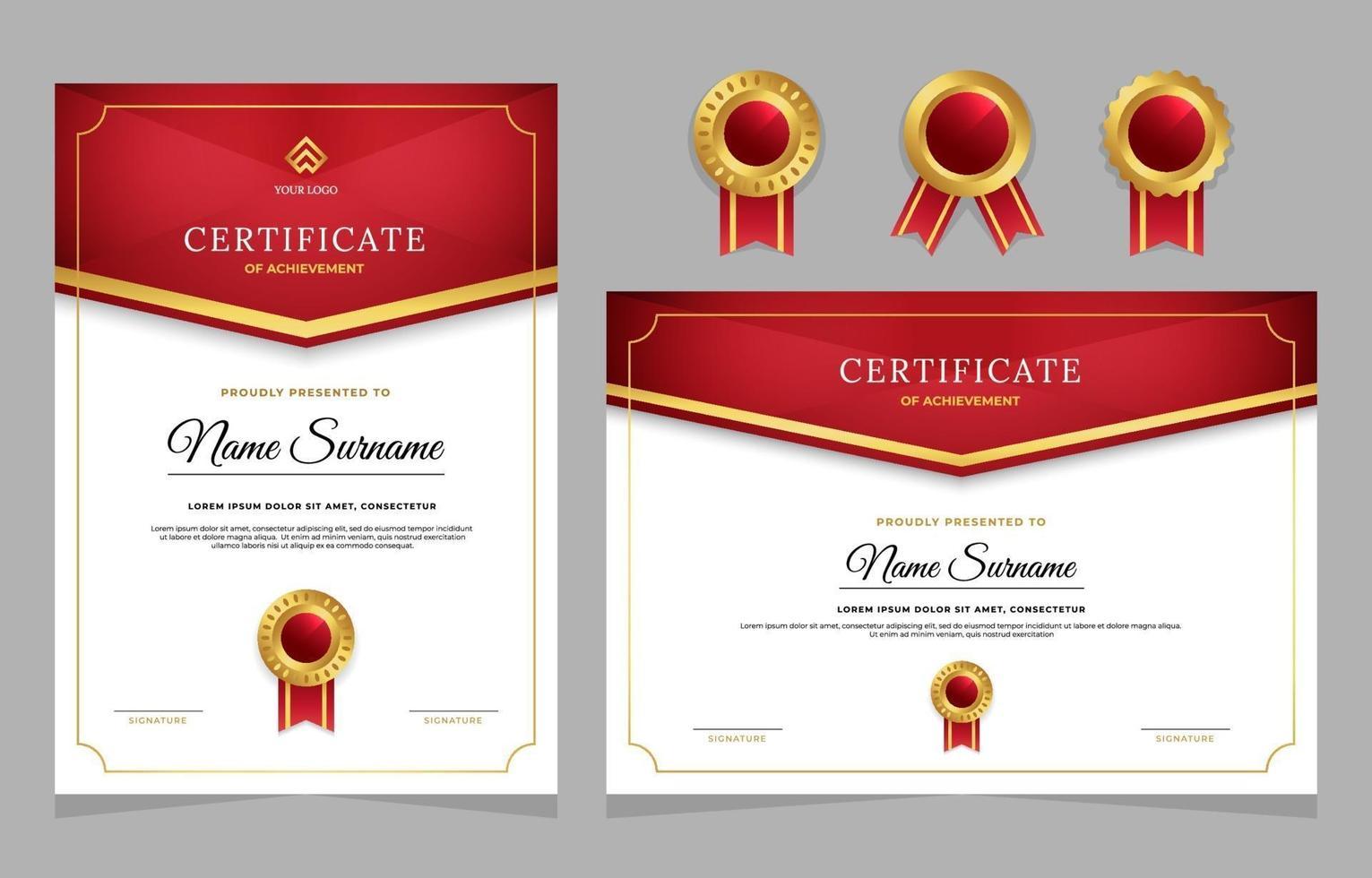afstuderen certificaatsjabloon vector