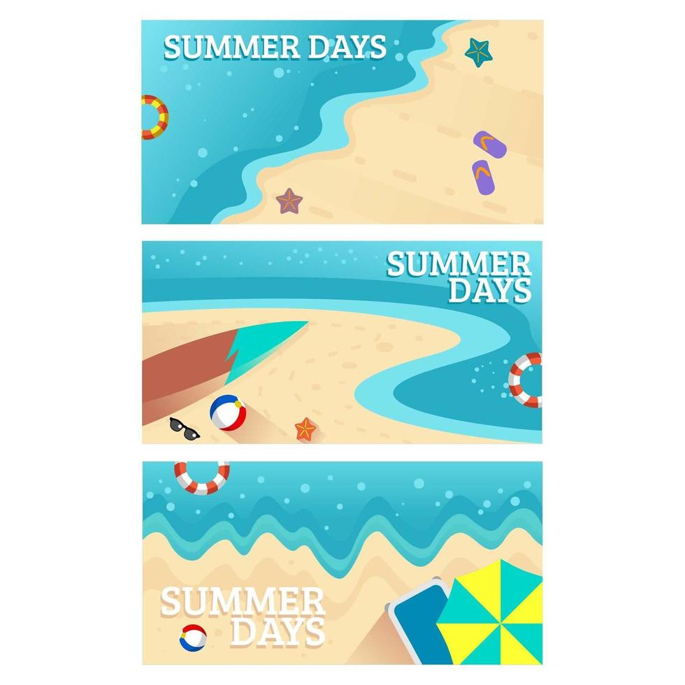 zomerdagen zonnige vakantie vector