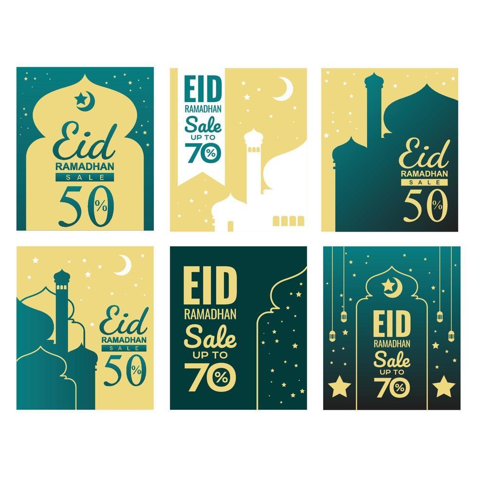 ramadhan verkoop kaart vector