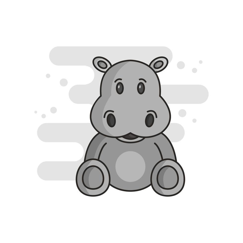 nijlpaard op witte achtergrond vector