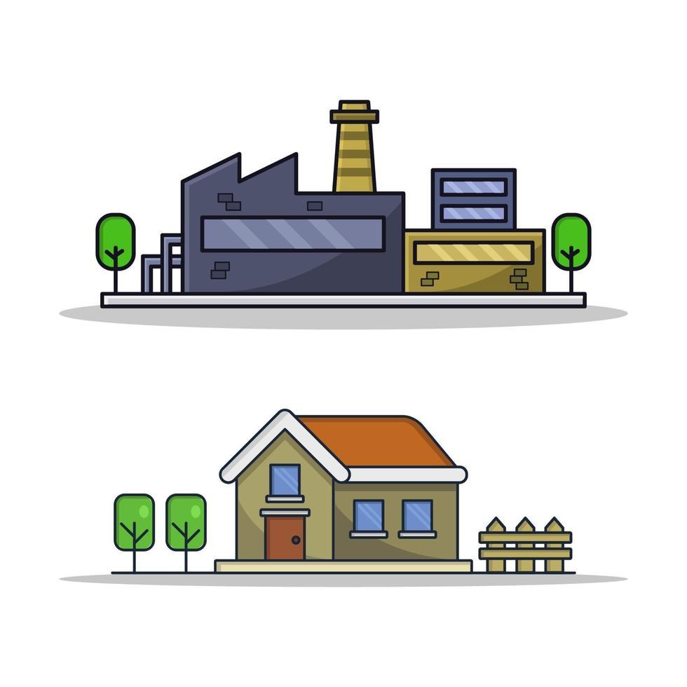 huis en industrie vector