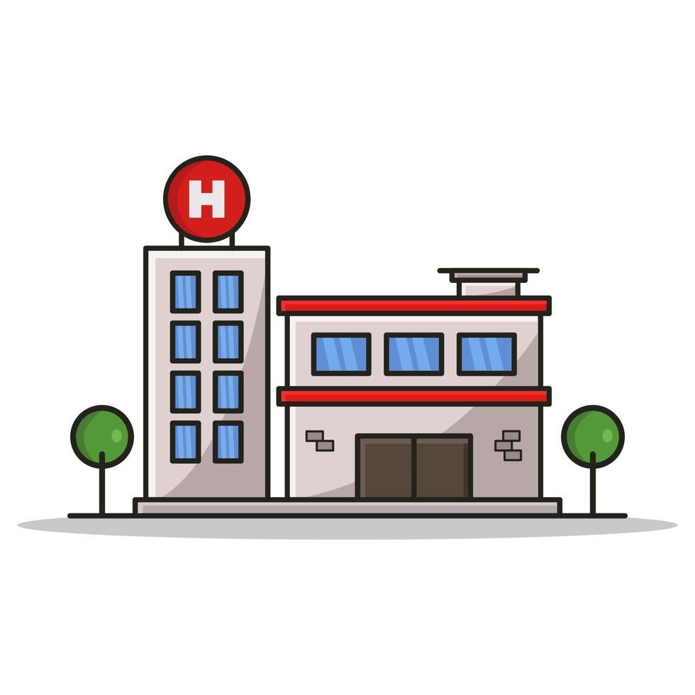 ziekenhuis op witte achtergrond vector