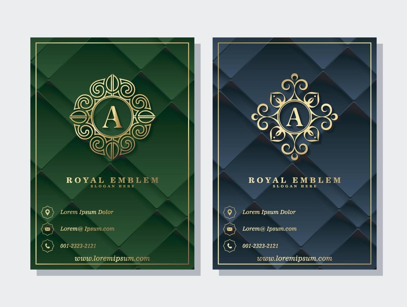 luxe geometrische abstracte zakelijke omslag en logo ornament sjabloon vector