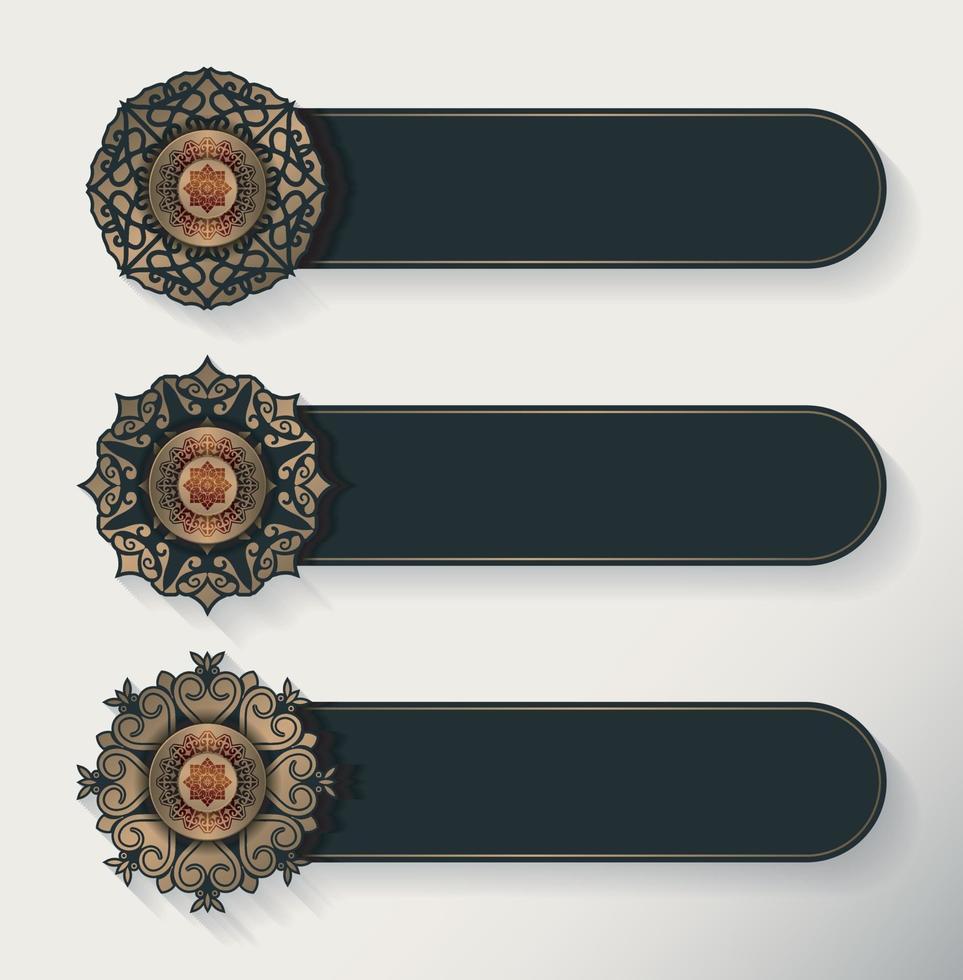 luxe mandala decoratieve banner vector