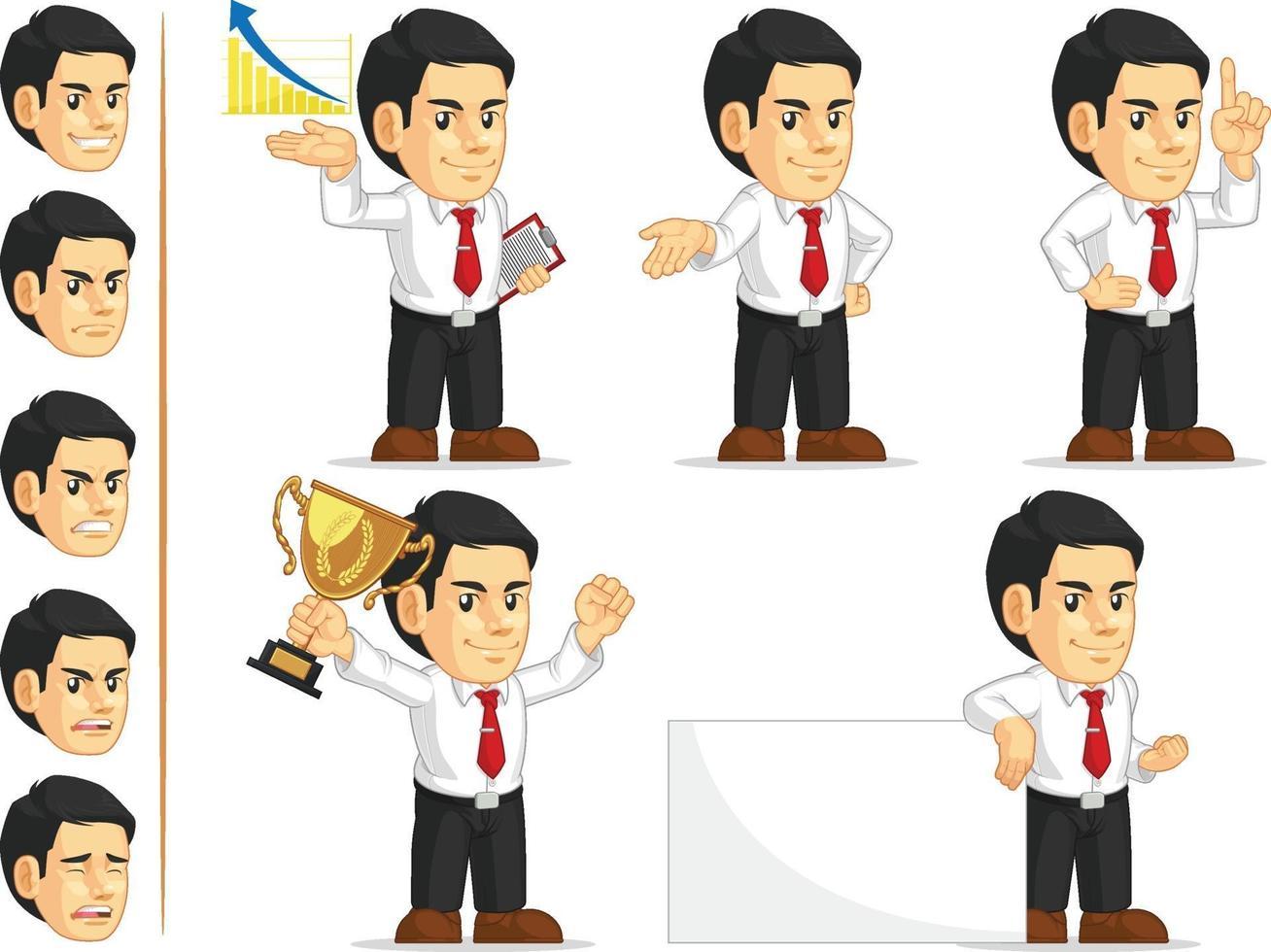 bedrijf kantoormedewerker corporate werknemer cartoon vector tekening