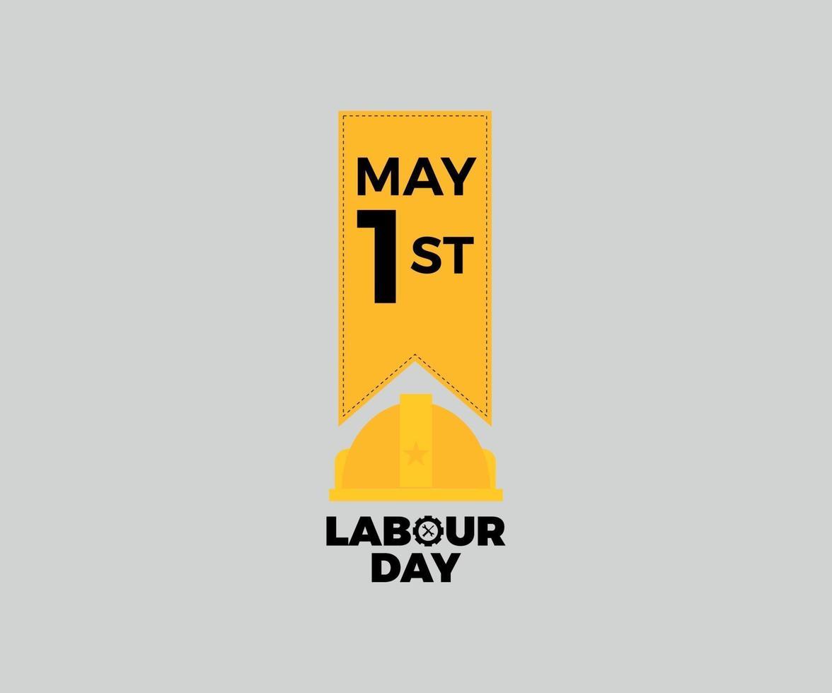 Werelddag van de Arbeid badge vector