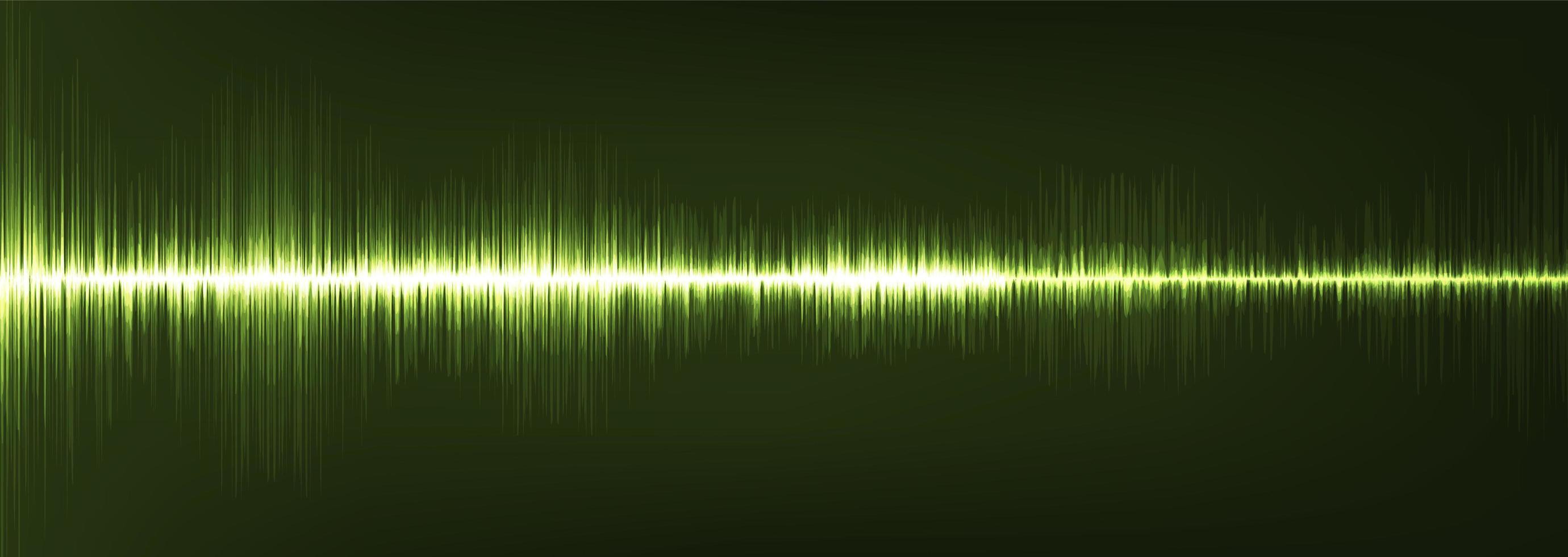 panorama groen digitale geluidsgolf lage en hoge richterschaal vector
