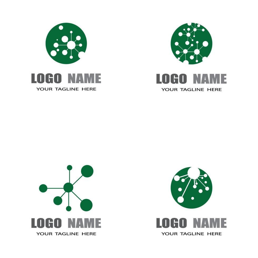 molecuul symbool embleemontwerp sjabloon vector illustratie