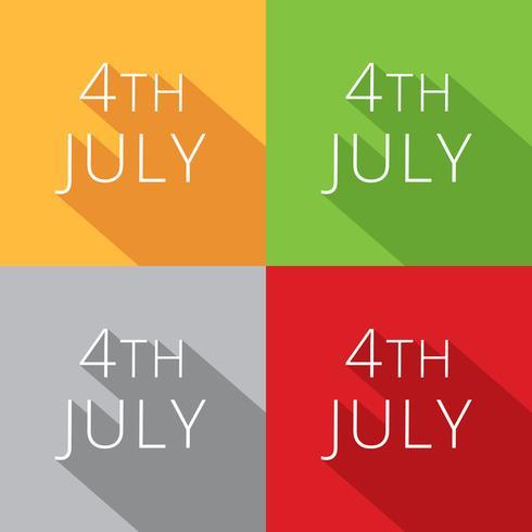 4 juli collectie vector
