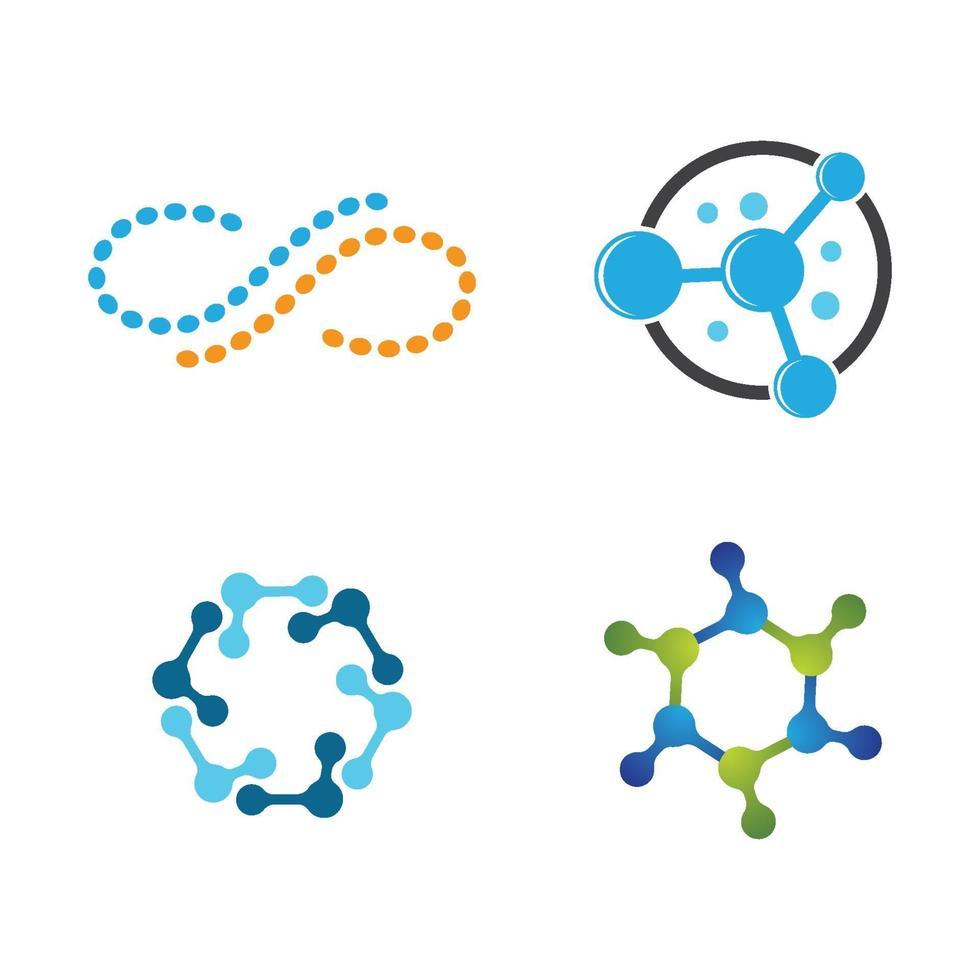 molecuul logo ontwerpset vector