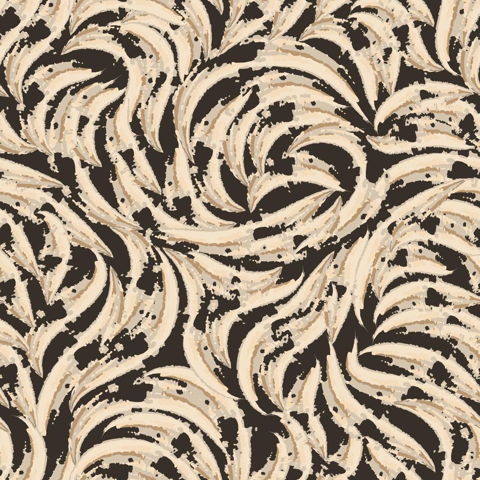 naadloze patroon van abstracte driekleurige gescheurde vormen. textuur voor stoffen of inpakpapier vector