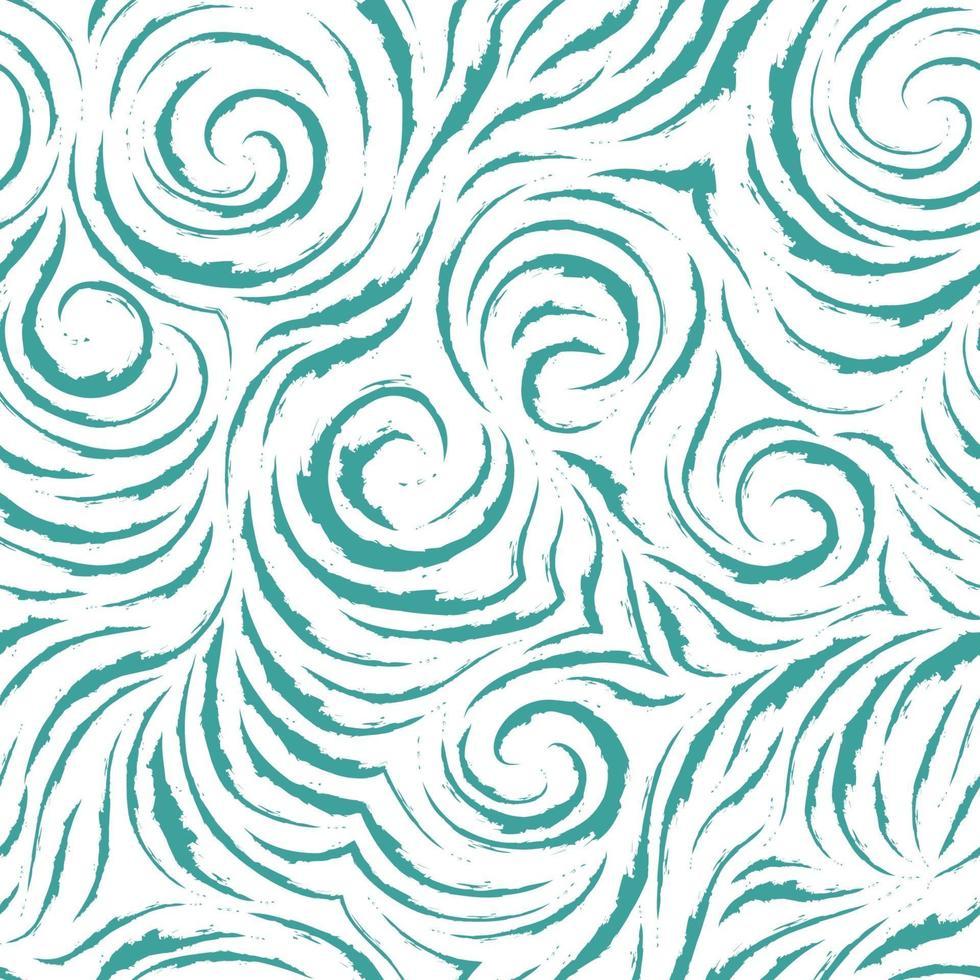 naadloze vector blauwe patroon van vloeiende lijnen met gescheurde randen in de vorm van hoeken en spiralen. lichte textuur voor het afwerken van stoffen of inpakpapier in pastelkleuren.